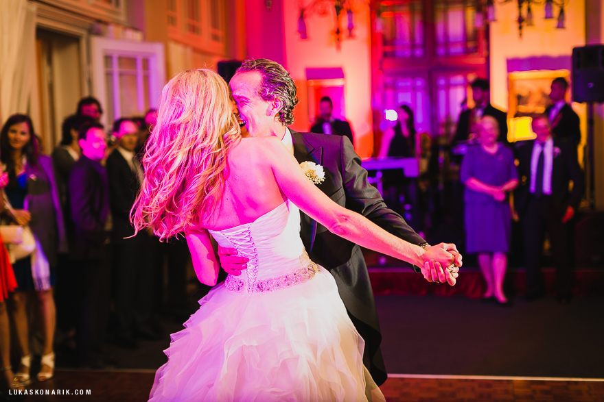 svatební tanec novomanželů na Žofíně
