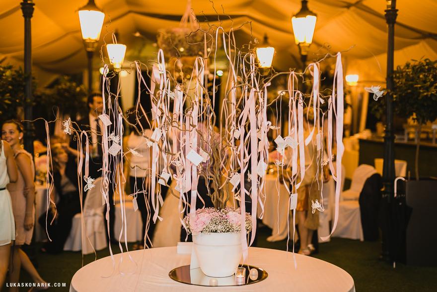svatební dekorace na Žofíně