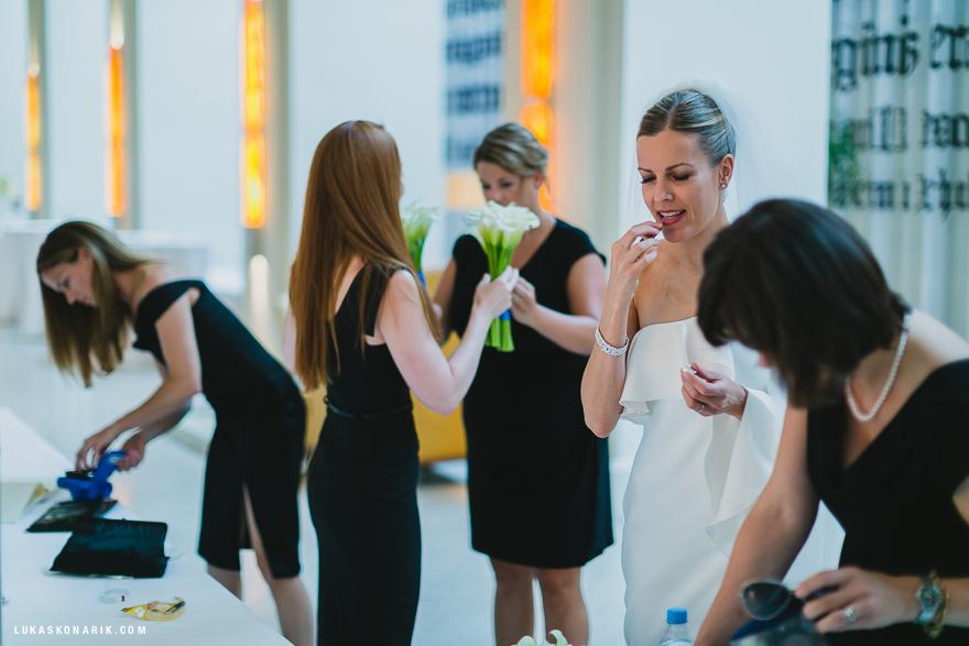 nevěsta a družičky v hotelu Mandarin Oriental v Praze