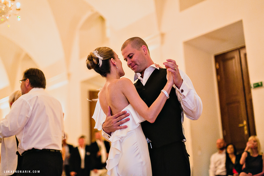 svatební tanec novomanželů v Praze