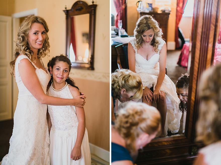 svatební fotografie přípravy nevěsty v Praze