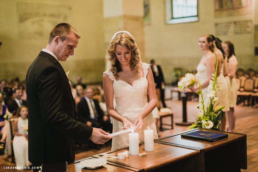 svatební obřad v Betlémské kapli