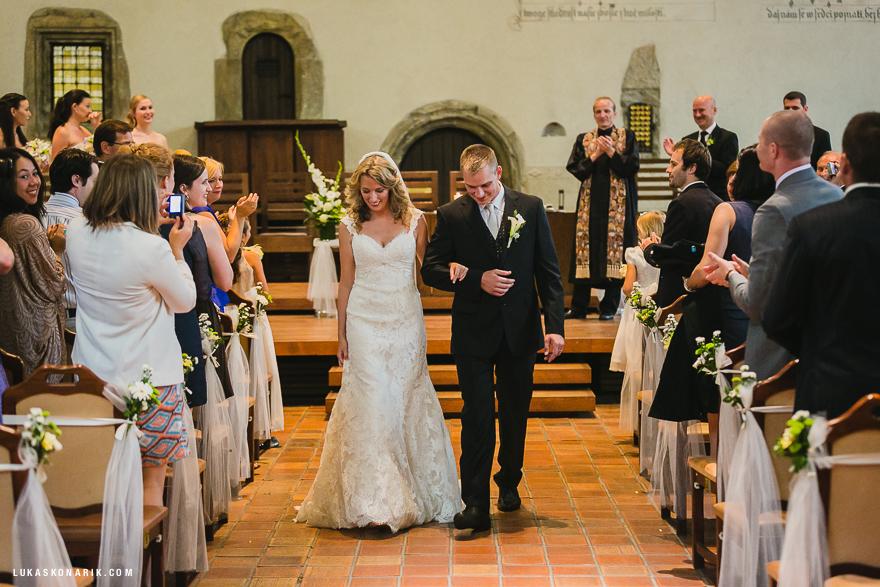 svatební obřad v Betlémské kapli v Praze