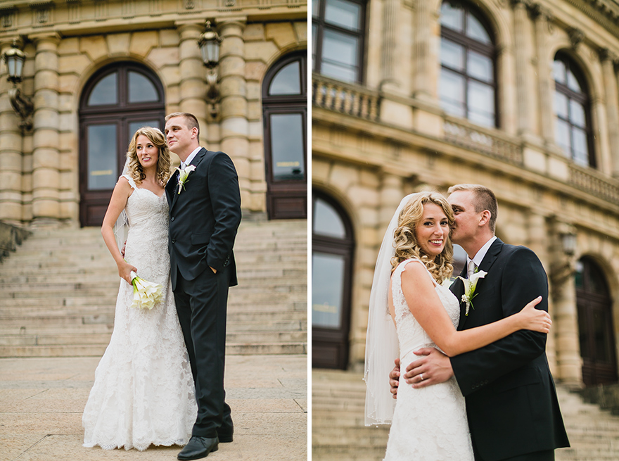 svatební fotografie v Praze u Rudolfinum