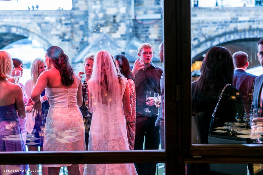 svatební oslava v restuaraci Mlýnec v Praze