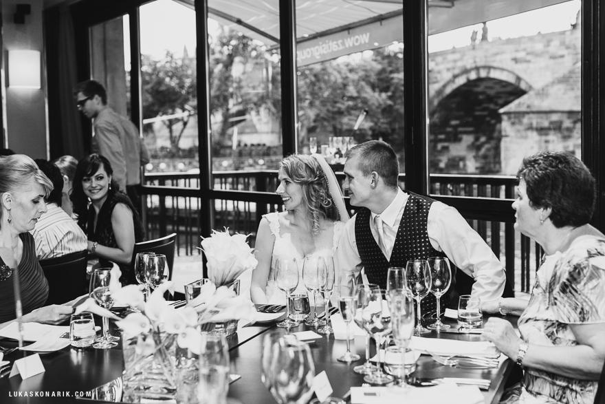 svatba v restuaraci Mlýnec v Praze