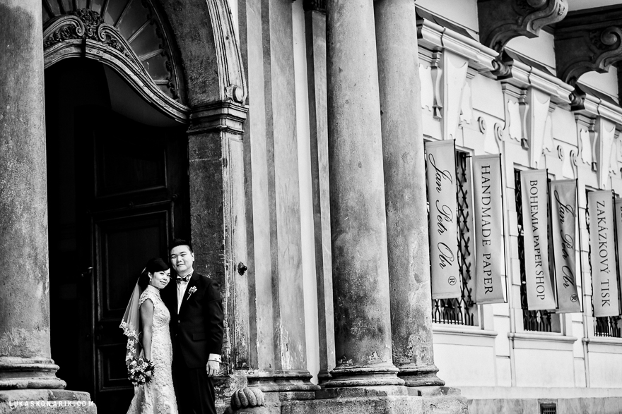 svatba v Praze u Národní galerie