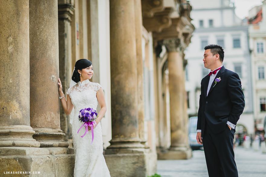 svatební fotografie v Praze u Národní Galerie