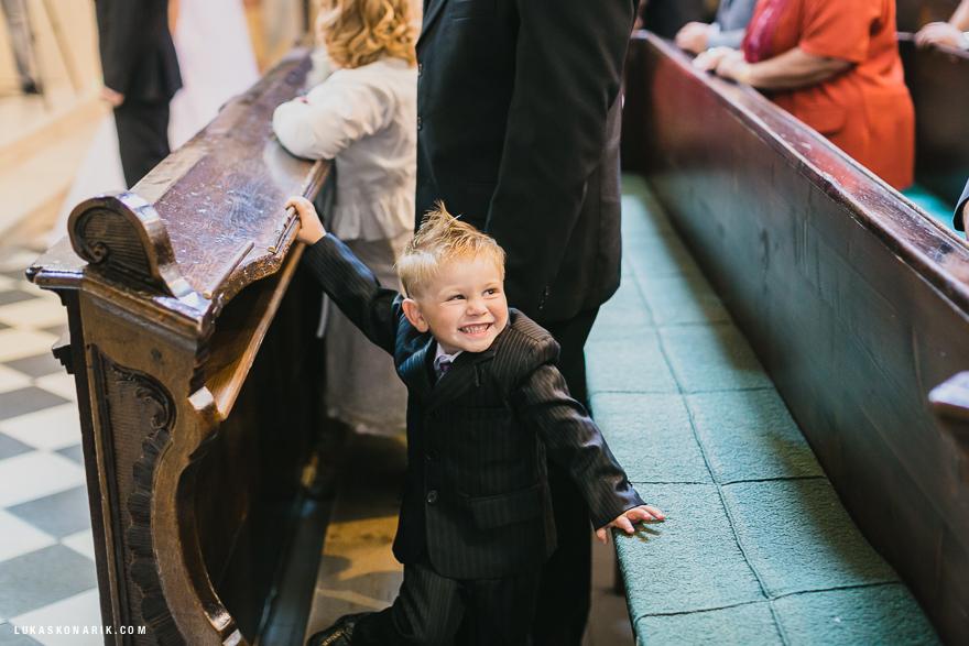 nejlepší svatebí fotografie v kostele