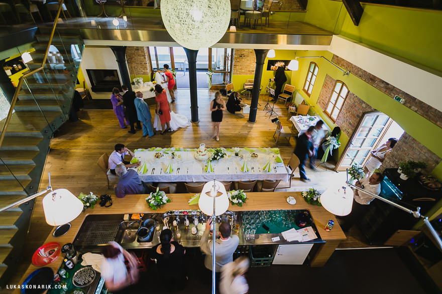 svatební hostina v restauraci Stará Sladovna