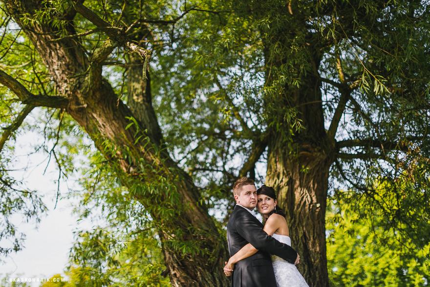 romantická svatební fotografie