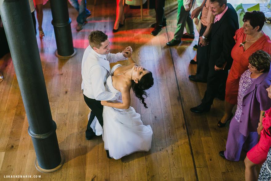 svatební tanec v restuaraci Stará Sladovna