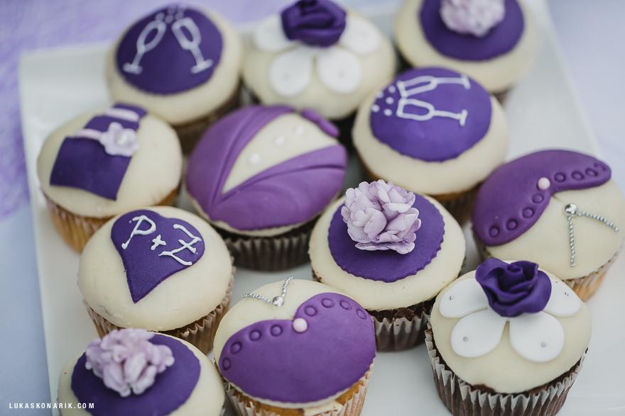 svatební cup cakes inspirace