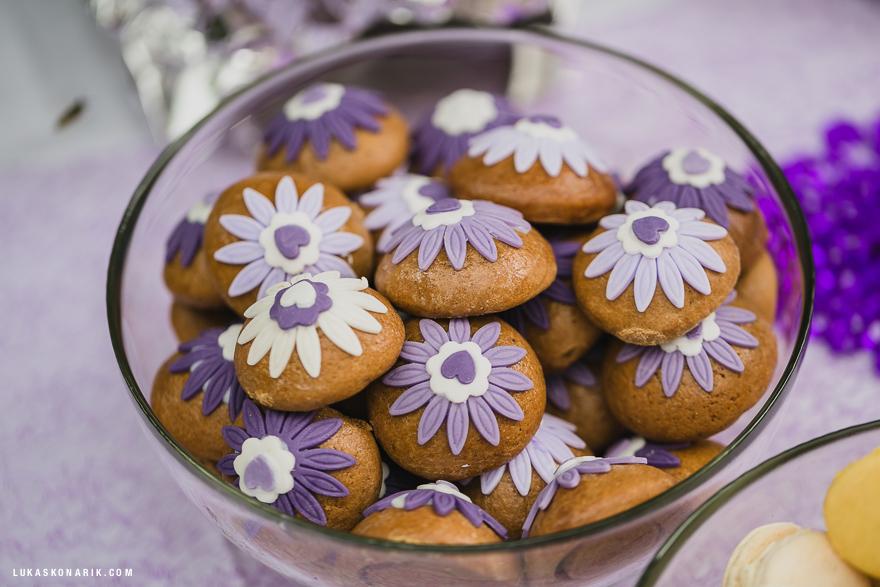 inspirace svatební dekorace, cukroví