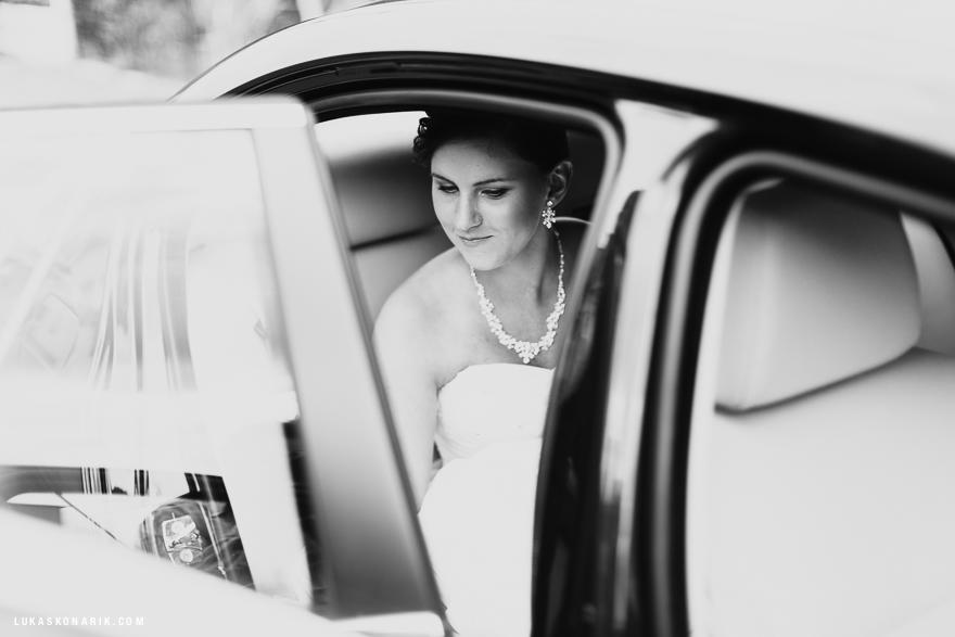 svatba na zámku Kozel - nevěsta