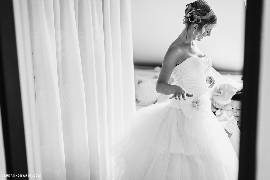 svatební fotografie Brno, příprava nevěsty