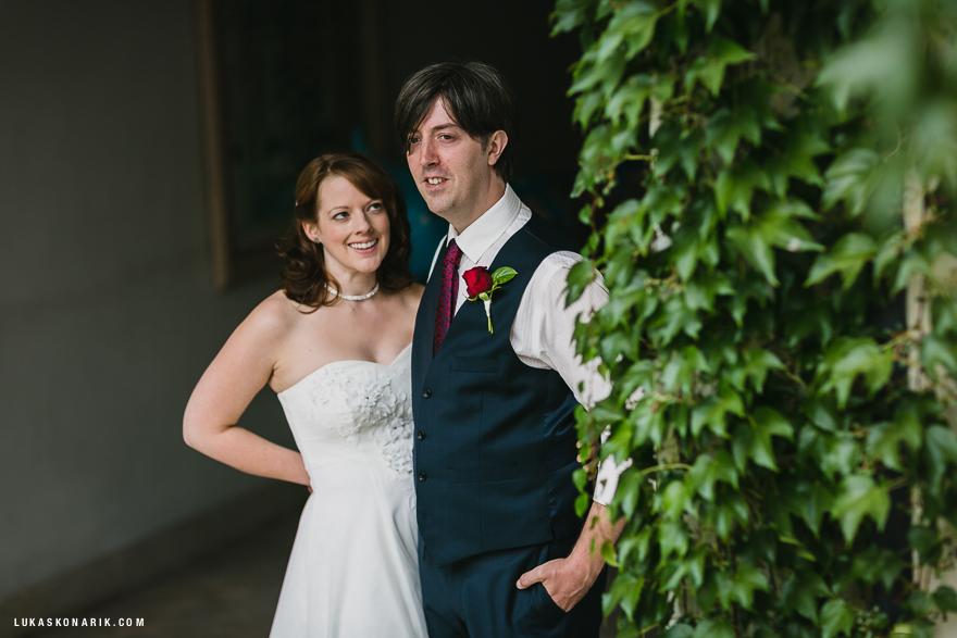 svatební fotografie nevěsty a ženicha v Praze