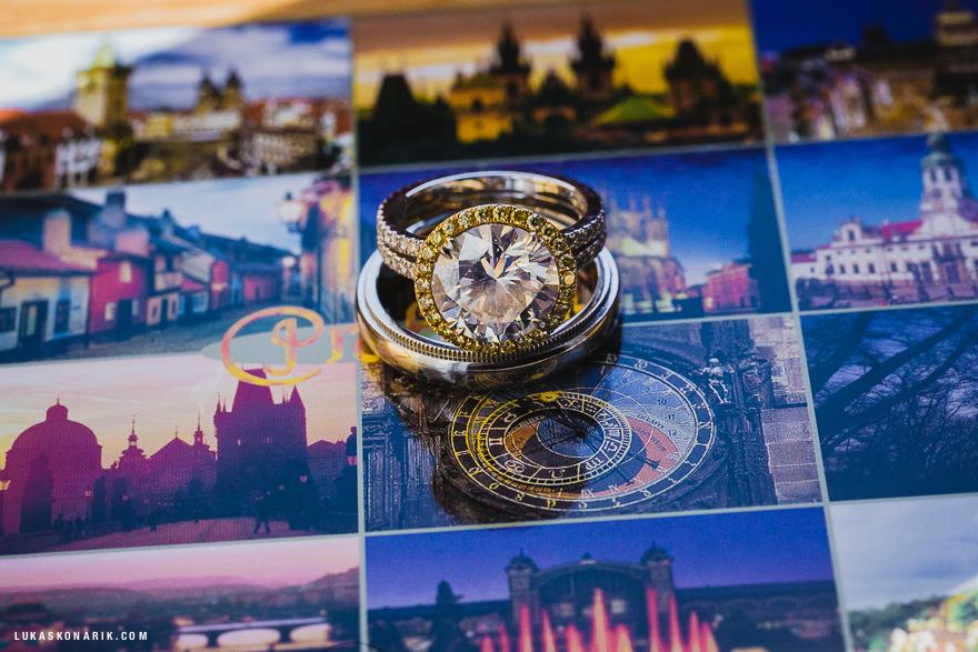 snubní prstýnky, svatba v Praze