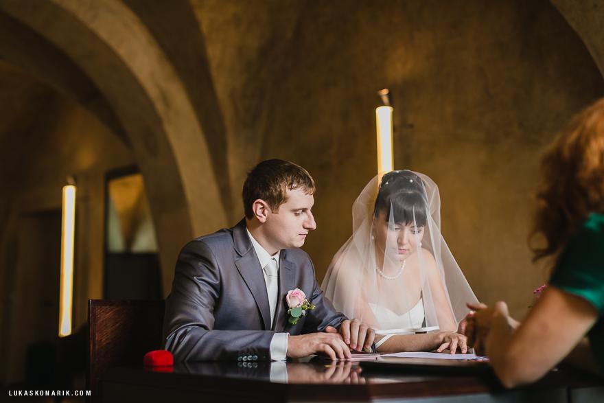 svatební obřad ve Staroměstské radnici v Praze