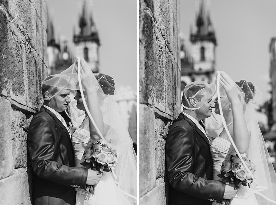svatební fotografie na Staroměstské radnici v Praze