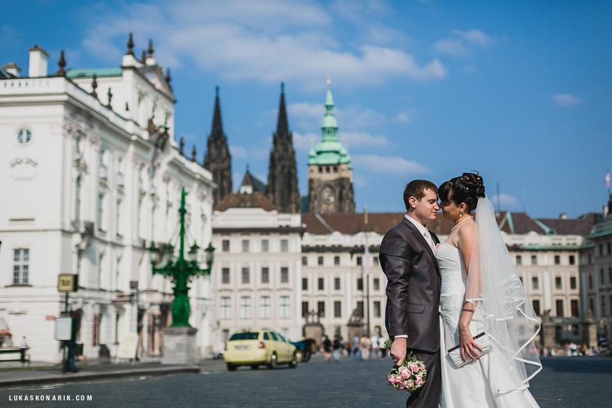 svatební fotografie u Pražského hradu
