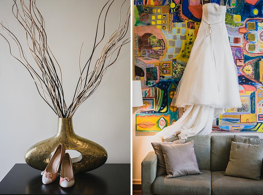 svatební střevíčky, svatební šaty, příprava nevěsty