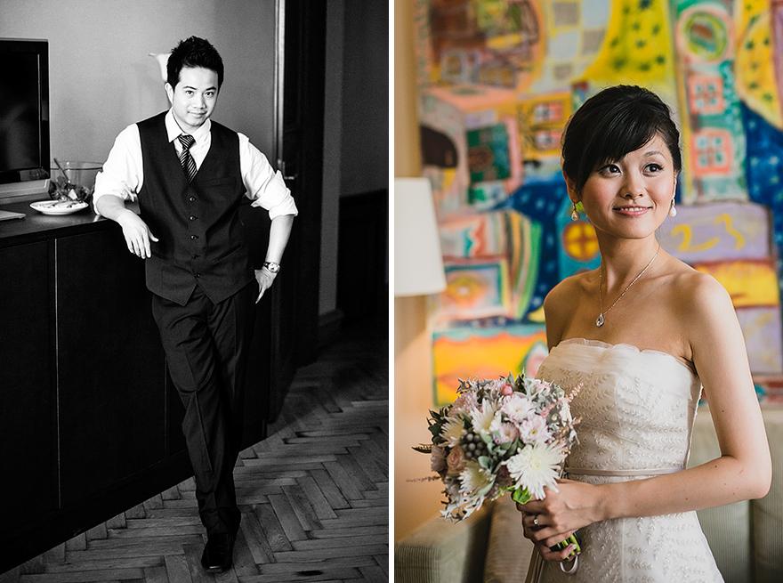 svatební fotografie přípravy nevěsty a ženicha