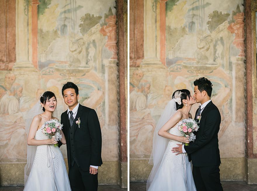 svatební fotografie ve Vrtbovské zahradě v Praze