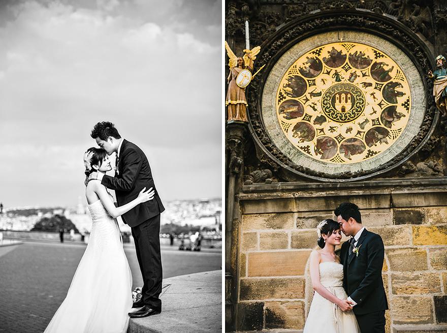 svatební fotografie v Praze u Orloje