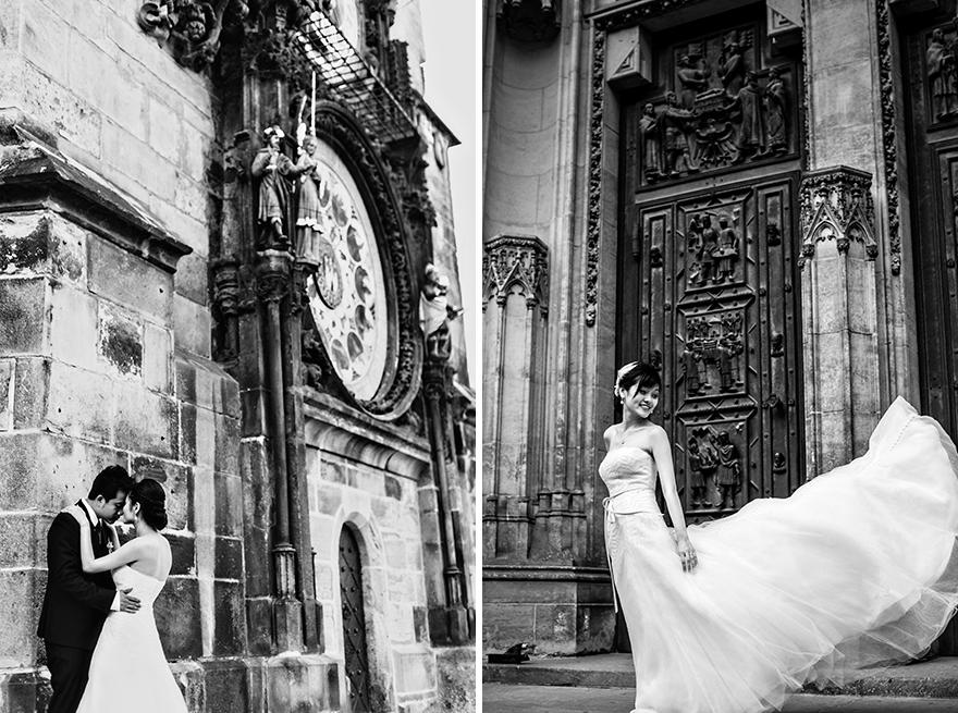 svatební fotografie v Praze, Orloj, sv. Vít