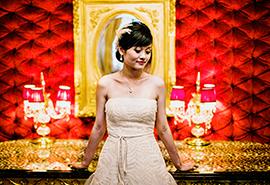 svatební fotografie nevěsty v Praze