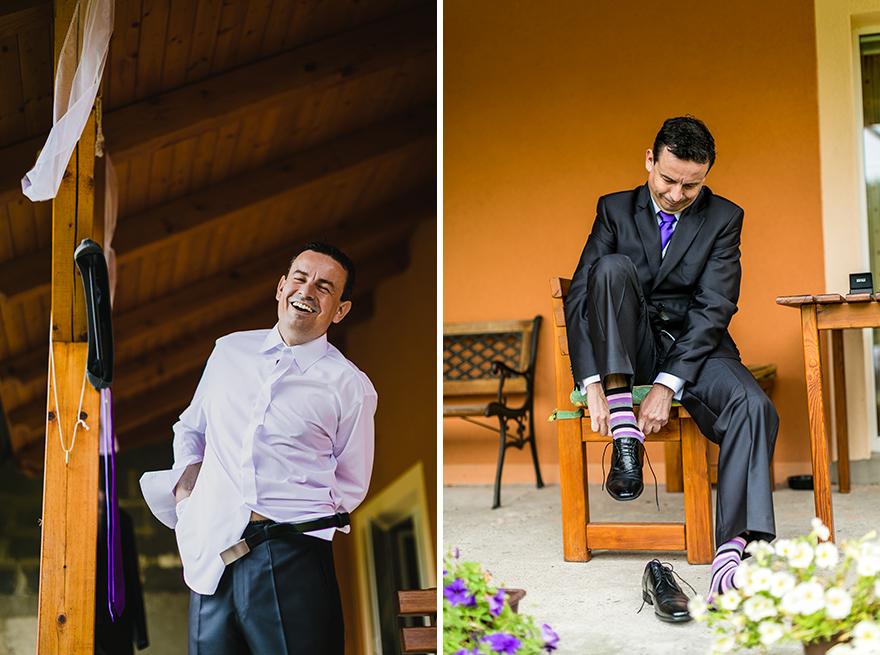 svatební fotografie ženicha ve Slezsku