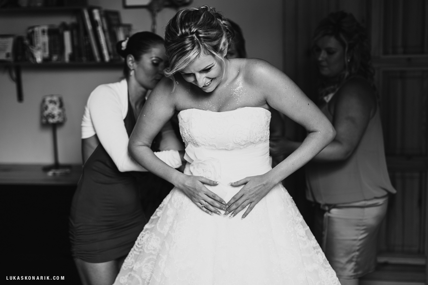 svatební šaty, příprava nevěsty ve Slezsku