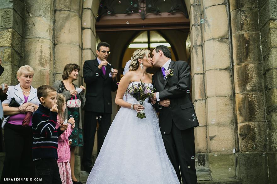 svatba v kostele ve Slezsku