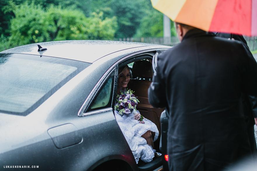 svatba ve Slezku příjezd nevěsty