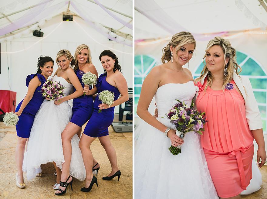 nevěsta a družičky na svatbě ve Slezsku