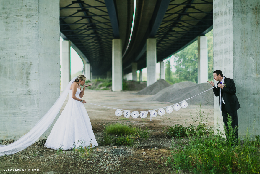 svatba ve Slezsku, fotografie v dešti