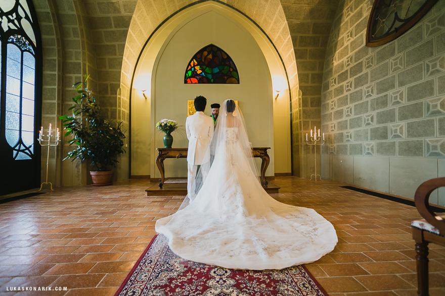 svatební obřad na zámku Hluboká nad Vltavou