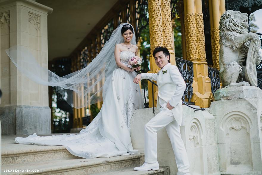 svatební fotografie na zámku Hluboká nad Vltavou