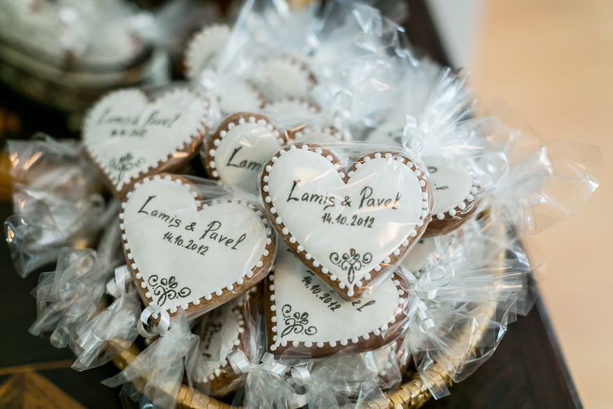svatební perníčky svatby v kostele na Vyšehradě
