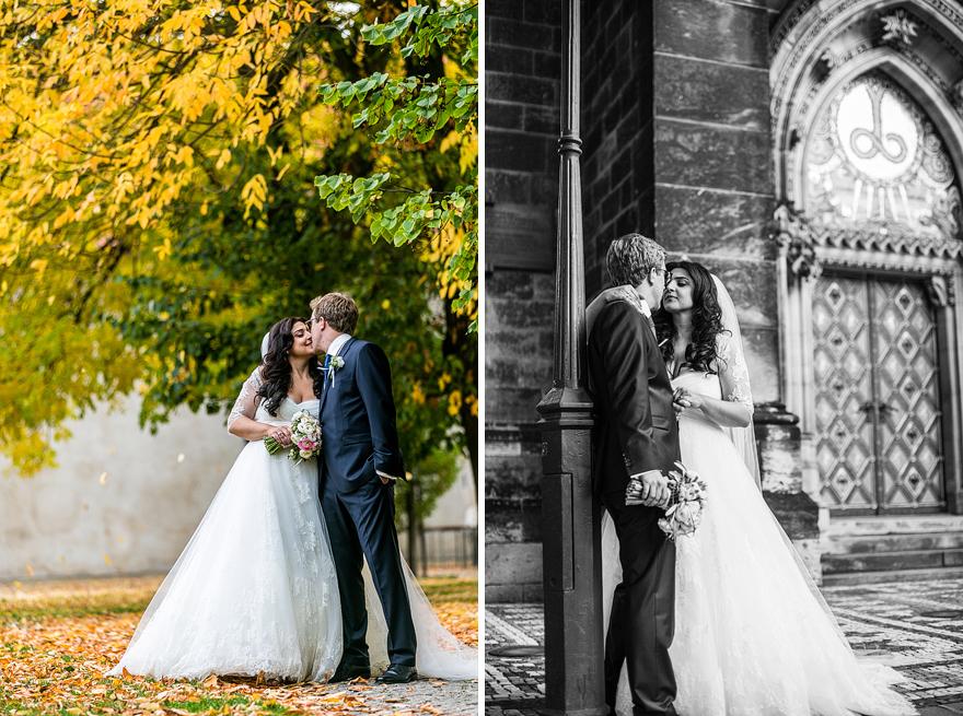 svatební fotografie novomanželů na pražském Vyšehradě