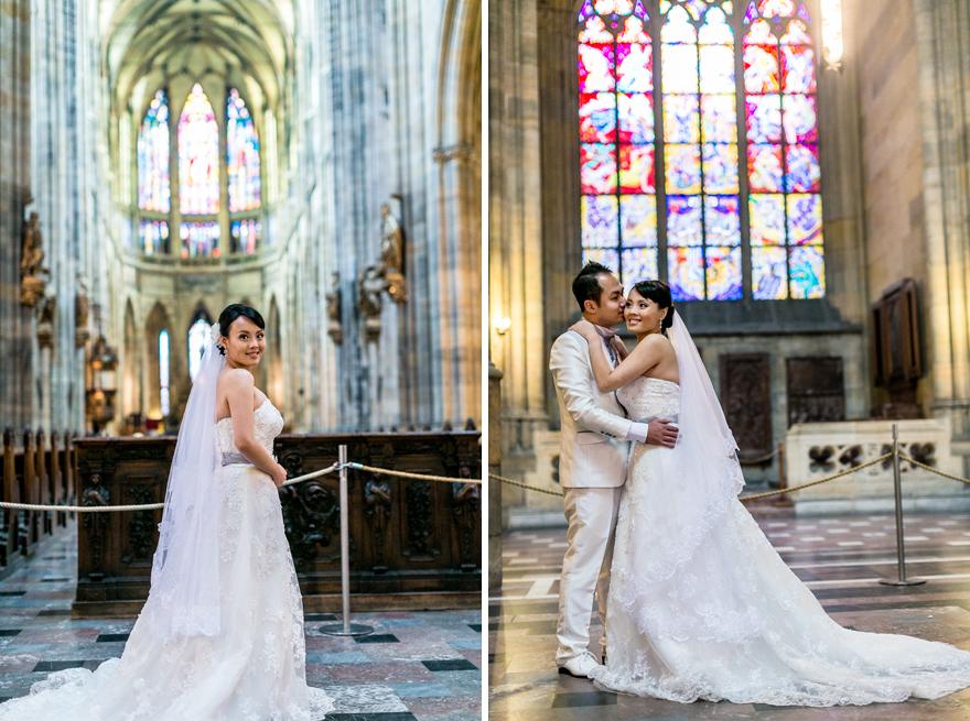 nevěsta a ženich v katedrále svatého Víta