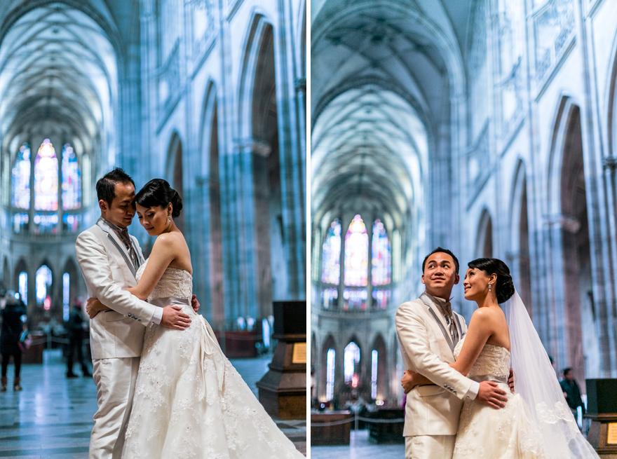 svatební fotografie v katedrále svatého Víta