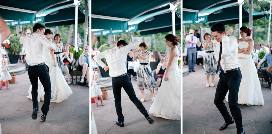 divoký tanec ženicha