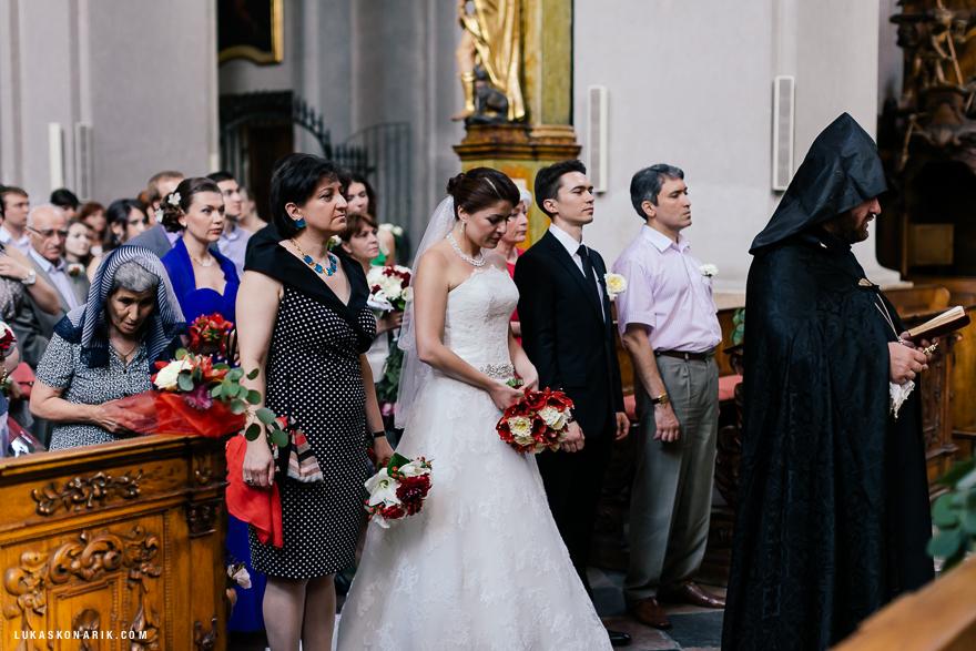 pravoslavný svatební obřad v Praze