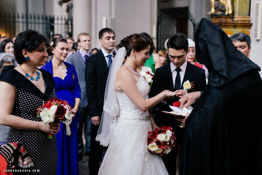 svatební obřad v kostele sv. Jiljí