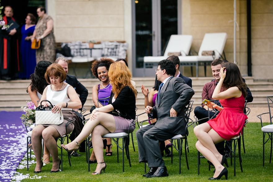 svatebčané na zámku Mcely