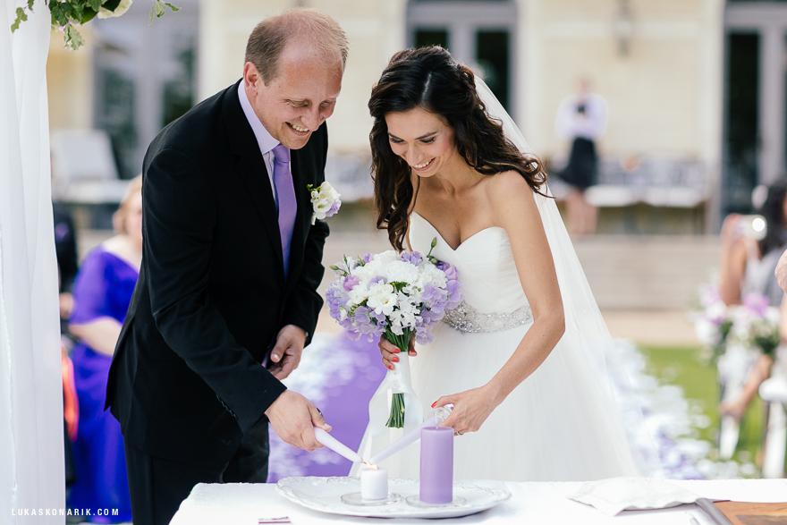 Svatební fotografie v Chateau Mcely