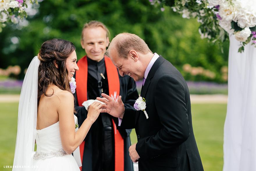 humor na svatbě