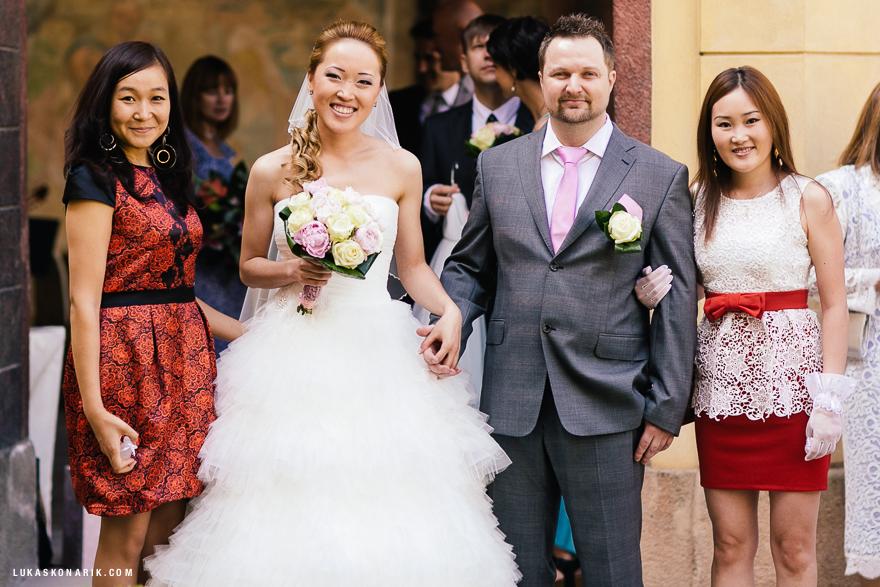 novomanželé v Salla Terena Vrtbovské zahrady